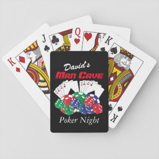 Poker Night at the Man Cave Playing Cards