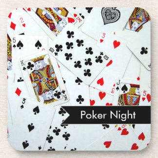Poker Night Card Game Cork Coasters