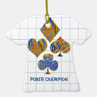 POKER Night Championship Ceramic T-Shirt Decoration