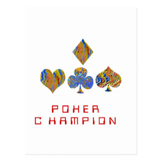 POKER Night Championship Postcard
