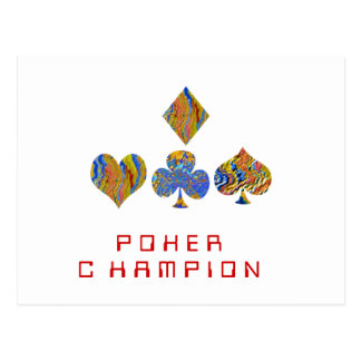 POKER Night Championship Postcard