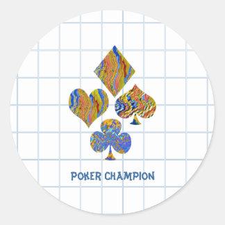 POKER Night Championship Round Sticker