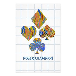 POKER Night Championship Custom Stationery