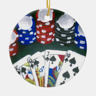 Poker Night Christmas Ornament