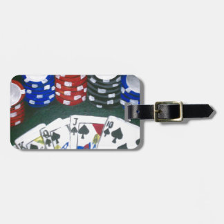 Poker Night Luggage Tag