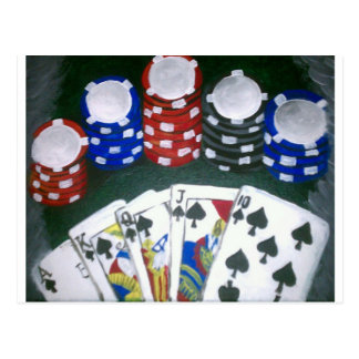 Poker Night Postcard