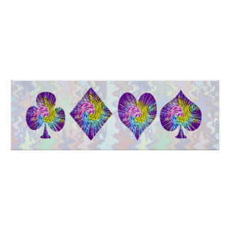 POKER Night Spade Diamond Heart n Clubs Poster