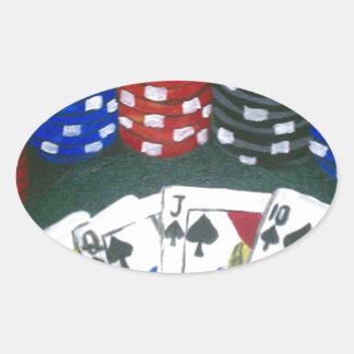 Poker Night Oval Sticker