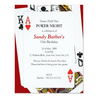 Poker Night - Texas Hold 'Em Party Invitation