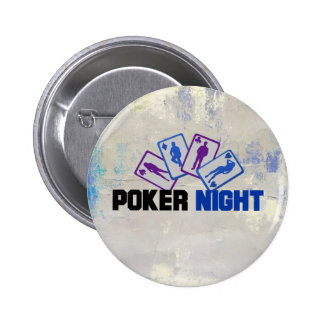 Poker Night with Playing Cards 6 Cm Round Badge