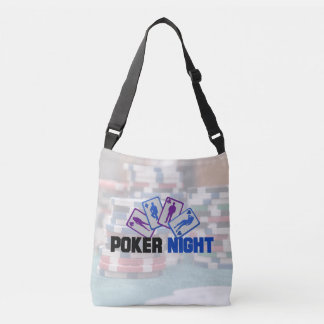 Poker Night with Playing Cards and Poker Chips Crossbody Bag