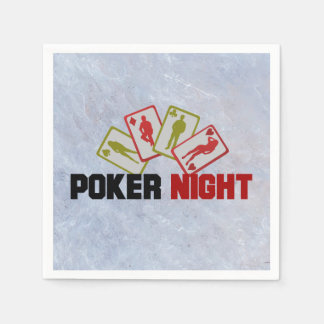 Poker Night with Playing Cards Paper Serviettes