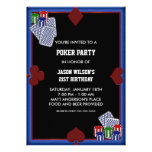 Poker Party Birthday Poker Party Invitations