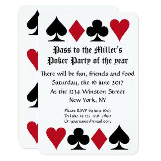 Poker Party Invitation Template B