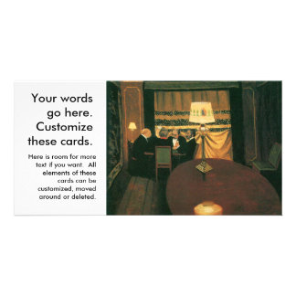 Poker party painting by Vallotton players at table Photo Card Template