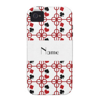 Poker personalized name case for the iPhone 4