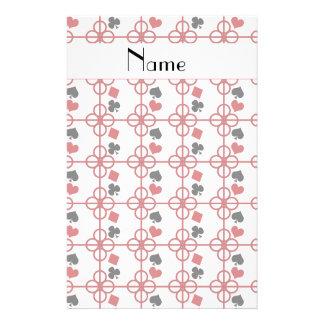 Poker personalized name custom stationery