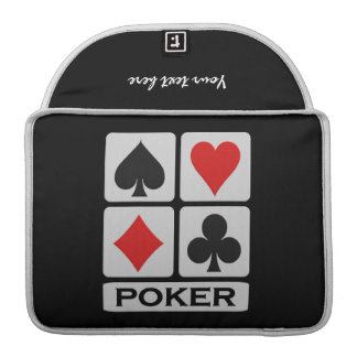 Poker Player custom MacBook sleeve MacBook Pro Sleeve