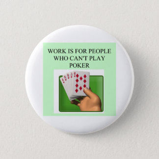 poker player lucky design 6 cm round badge