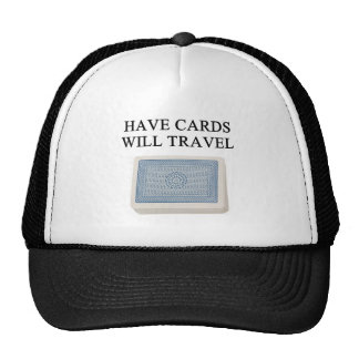poker player lucky design mesh hats