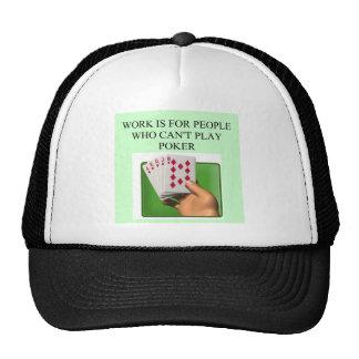 poker player lucky design trucker hats