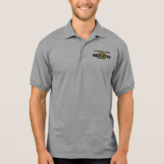 Poker Player Rock Star by Night Polo Shirts