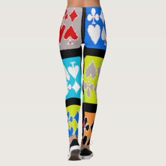 Poker player Stylized Cards Cool Leggings