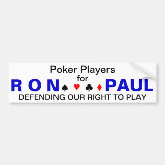 Poker Players for Ron Paul Bumper Sticker