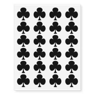 Poker Playing Card Suits 24 Black Clubs