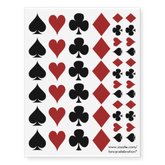 Poker Playing Card Suits, Clovers Spades Hearts...