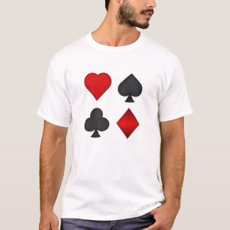 Poker: Playing Card Suits: T-Shirt: Black Jack T-Shirt