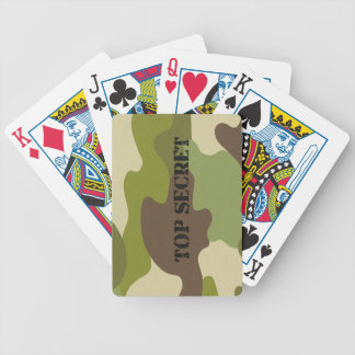 Poker Playing Cards camouflage top secret