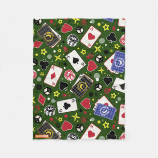 Poker Print Fleece Blanket