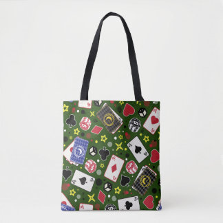 Poker Print Tote Bag