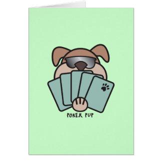 Poker Pup Card