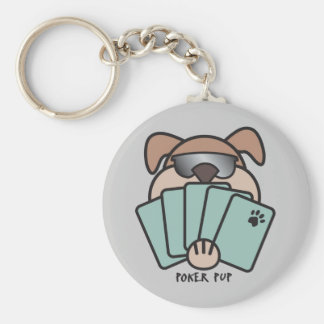 Poker Pup Key Chain