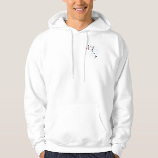 Poker,_Quad_Aces,_Mens_Hooded_White_Sweatshirt Hoodie