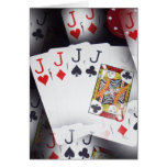 Poker,_Quad_Jacks,_Small_Note_Greeting_Card. Note Card