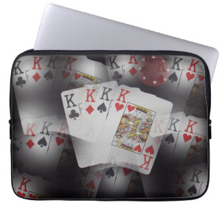 Poker,_Quad_Kings,_Cards,_13_Inch_Laptop_Sleeve. Laptop Sleeve