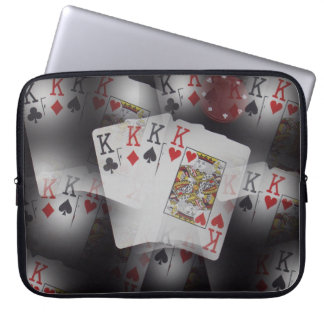 Poker,_Quad_Kings,_Cards,_15_Inch_Laptop_Sleeve. Computer Sleeve