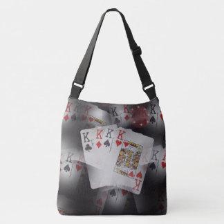 Poker,_Quad_Kings_Full_Print_Med_Cross_Body_Bag. Tote Bag