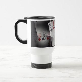 Poker_Quad_Kings_White_Travel_Commuter_Coffee_Mug. Travel Mug