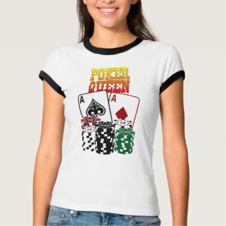 Poker Queen - Two Aces and Chips T-Shirt