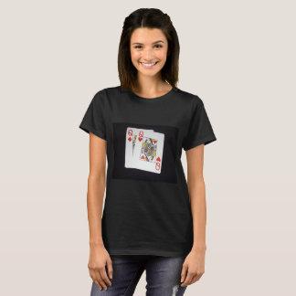 Poker,-Queens,_Pockets,_Pair,_Ladies_Black_T-shirt T-Shirt