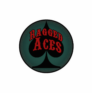 Poker: Ragged Aces Card Guard Photo Sculpture Magnet