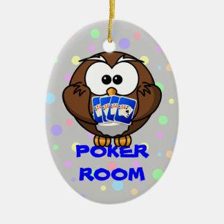 poker room christmas ornament