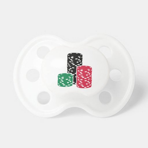 Poker Roulette chips gambling Pacifiers