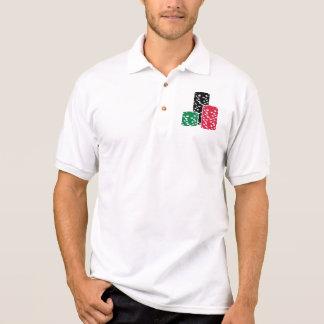 Poker Roulette chips gambling Polo T-shirt