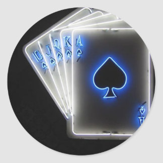 Poker Round Sticker