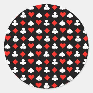 Poker Round Sticker